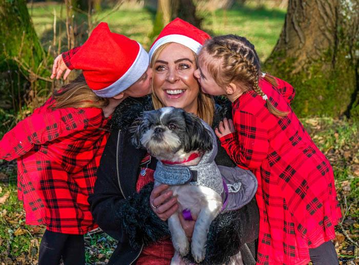 christmas family photoshoot cwmbran