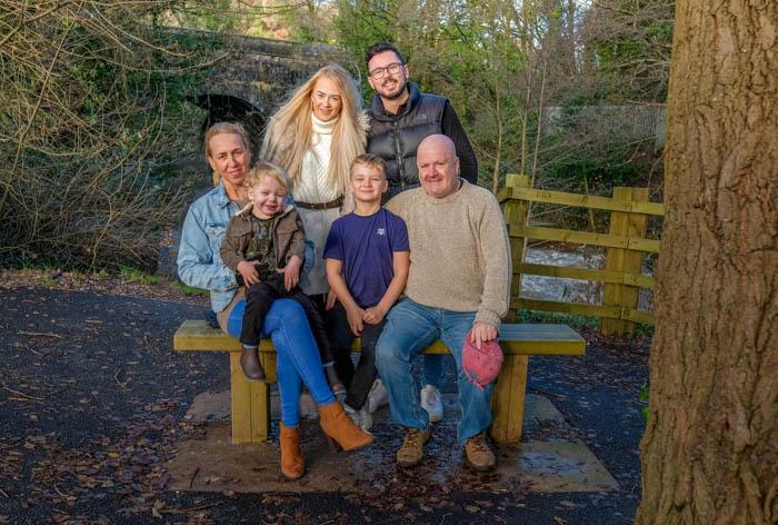Family photoshoot, Pontypool