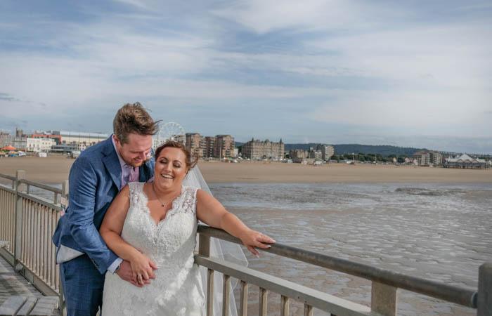The Grand Pier Weston super mare somerset wedding photography
